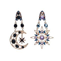 Kolczyki zwisają sztuczna Diament Unikalny Wiszący Modny Osobiste euroamerykańskiej Akrylowy Słońce MOON Gold Biżuteria NaCodzienny