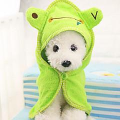 mascotas toalla de baño con el casquillo