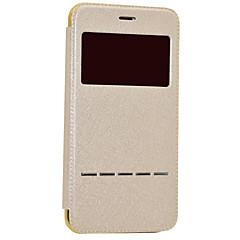 Na Z okienkiem Auto uśpienie/włączenie Galwanizowane Flip Kılıf Futerał Kılıf Brokat Twarde Skóra PU na AppleiPhone 7 Plus iPhone 7