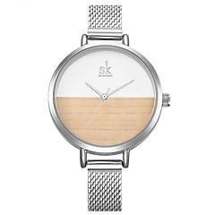 SK Dames Dress horloge Modieus horloge Armbandhorloge Unieke creatieve horloge Chinees Kwarts Waterbestendig Stootvast Legering Band