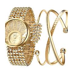 Dress horloge Modieus horloge Polshorloge Strass Kleurrijk Kwarts Roestvrij staal BandGlitter Gestipt Bohémien Bedeltjes Bangle armband