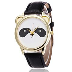 Dames Modieus horloge Polshorloge / Maanfase Kwarts PU Band Kat Cool Zwart Wit