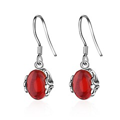 Store øreringe Onyx Hængende Agat Dråbe Retro Rød Smykker For Fødselsdag Afslappet 1 par