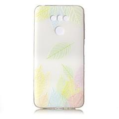 For Etuier Transparent Mønster Præget Bagcover Etui blondedesign Blødt TPU for LG LG G6
