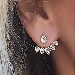 Pentru femei Cercei Stud Cercei Față & Spate Ștras costum de bijuterii La modă Euramerican Aliaj Lacrimă Bijuterii Pentru Petrecere Zilnic
