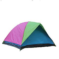 徽羚羊 3-4 사람 텐트 더블 베이스 접이식 텐트 원 룸 캠핑 텐트 유리 섬유 옥스퍼드 방수 호흡 능력 자외선 저항력 바람 방지 폴더-하이킹 캠핑 야외