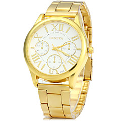 Fashion Watch Quartz Alloy Band Vintage Gold Brand
