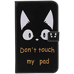 Για Θήκες Καλύμματα Πορτοφόλι Θήκη καρτών με βάση στήριξης Αυτόματη αδράνεια / αφύπνιση Ανοιγόμενη Με σχέδια Πλήρης κάλυψη tok Γάτα Σκληρή