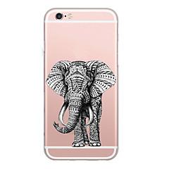 Tapauksen kansi ohut kuvio takakansi tapauksessa elefantti pehmeä TPU iphone 7 plus 7 6s plus 6 ja se 5s 5