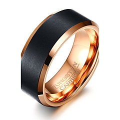 Men's Ring Basic Euramerican Fashion Personalized Tungsten Steel Carbon Fiber Luxury Casual Jewelry For Simple Party Finger Rings