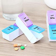 1 készlet Gyógyszeres doboz/tok utazáshoz Elsősegély dobozPárásodás gátló Vízálló Hordozható Non Toxic Tárolási készlet Ivóeszközök és