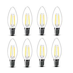 ® Shenmeile 2W E14 LED Filament Bulbs C35 2 COB 200 lm Warm White Decorative AC220 AC230 AC240 V 8 pcs