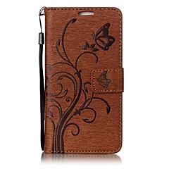 Huawei Y 6 ii p10 pillangó és virág dombornyomott mintával pu bőr pénztárca anyag funkció telefon tok p10 lite P8 lite (2017)