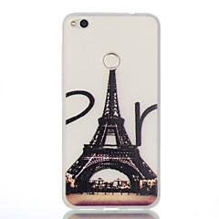 Mert Foszforeszkáló Jeges Áttetsző Minta Case Hátlap Case Eiffel torony Puha TPU mert HuaweiHuawei P9 Huawei P9 Lite Huawei P8 Lite