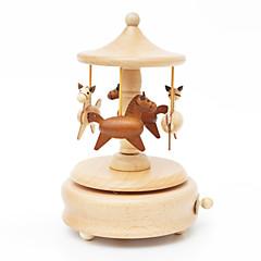 Music Box Okrągły Zabawki nowoczesne i żartobliwe Drewno Dla obu płci