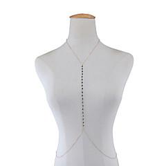 Női Testékszer Body Lánc / Belly Chain Divat Kristály Geometric Shape Arany Ezüst Ékszerek Mert Különleges alkalom Hétköznapi Sport 1 db