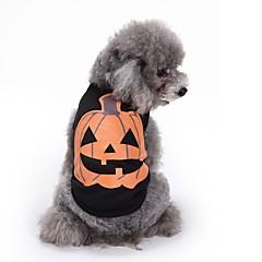 Γάτες Σκυλιά Φανέλα Veste Ρούχα για σκύλους Καλοκαίρι Κολοκύθα Cute Μοντέρνα Καθημερινά Halloween