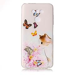Για Θήκες Καλύμματα Διαφανής Ανάγλυφη Με σχέδια Πίσω Κάλυμμα tok Γάτα Λουλούδι Πεταλούδα Μαλακή TPU για LG LG G6