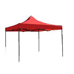 Suojat ja pressut Yksittäinen Taitettava teltta Yksi huone teltta Iron Vedenkestävä-Retkeily-Punainen