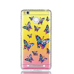 Voor xiaomi redmi 4a notitie 4 strass imd doorschijnende vlinder patroon achterkant hoesje harde pc notitie 4x
