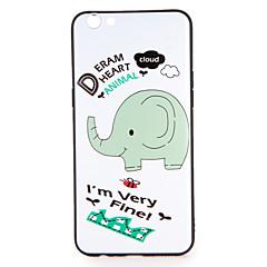 ja oppo r9s r9s plus suojus kuvio takakansi tapauksessa elefantti pehmeä TPU R9 R9 plus
