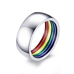 Men's Ring Statement Rings Basic Euramerican Fashion Personalized Simple Style Stainless Steel Circle Round Geometric Jewelry For Party