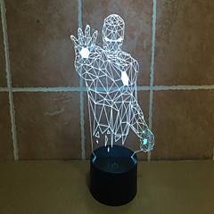 lron férfi 3 d vetítőlámpa érintés lámpa led akril látható fény