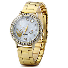 Unisex Dress Watch Fashion Watch Chinese Quartz Rhinestone Alloy Band Vintage Sparkle Butterfly Gold