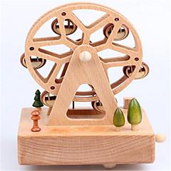 Music Box Okrągły Zabawki nowoczesne i żartobliwe Drewno Nie określony