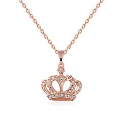 Damskie Naszyjniki z wisiorkami Crown Shape Kryształ górski Stop Modny Osobiste euroamerykańskiej Biżuteria NaŚlub Impreza Specjalne