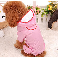 Perros Impermeable Ropa para Perro Invierno Verano Primavera/Otoño Un Color Adorable Rojo Rosa