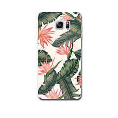 Na Etui Pokrowce Ultra cienkie Wzór Etui na tył Kılıf Kwiat Miękkie TPU na Samsung Note 5 Note 4 Note 3