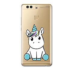 Mert tokok Ultra-vékeny Minta Hátlap Case Egyszarvú Puha TPU mert HuaweiHuawei P10 Plus Huawei P10 Huawei P9 Huawei P9 Lite Huawei P9