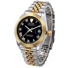 Tevise Heren Voor Stel Modieus horloge mechanische horloges Automatisch opwindmechanismeKalender Waterbestendig Lichtgevend Zwitsers