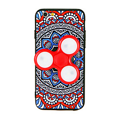 Fidget Spinner Case For iPhone 7 7 Plus 6s 6 Plus Hand Spinner Removable LED Flashing Back Case 3D Cartoon Mandala Hard PC for Apple iPhone 6 6s Plus