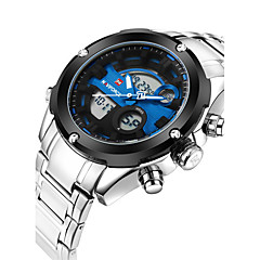 NAVIFORCE Hombre Reloj Deportivo Reloj de Moda Reloj de Pulsera Reloj Casual Cuarzo Calendario Acero Inoxidable Banda Cool Casual De Lujo