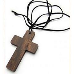 Damskie Naszyjniki z wisiorkami Łańcuszki na szyję Biżuteria Bicone Shape Cross Shape Drewniany Klasyczny Unikalny Wiszący Cyrkonie