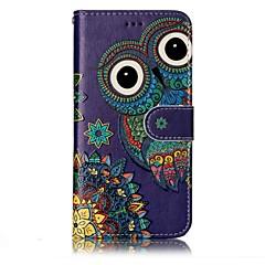 Do lg g6 obudowa pokrowiec sowa wzór shine relief pu materiał stent portmonetka portfel telefon