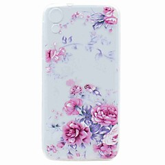 For HTC Desire 626 Case Cover Transparent Pattern Back Cover Case Flower Soft TPU Case