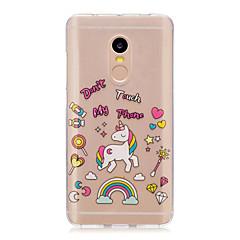 Voor xiaomi redmi note 4 noot 3 3s case cover unicorn patroon achterkant zachte tpu redmi note