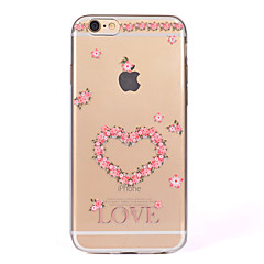For IMD Transparent Case Back Cover Case  Love Flower Heart Soft TPU for iPhone 7 Plus 7 6s Plus 6 Plus  6s  6 SE 5S 5