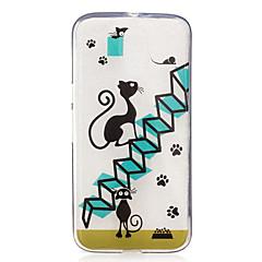 Voor IMD Transparant Patroon hoesje Achterkantje hoesje Kat Zacht TPU voor Motorola Moto G4 Play Moto G4 Plus