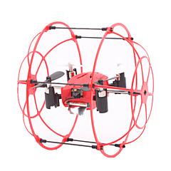 Drone M66 Canal 4 6 Eixos - Iluminação De LED Vôo Invertido 360° FlutuarQuadcóptero RC Controle Remoto 1 Estação de Carregamento 1 Cabo
