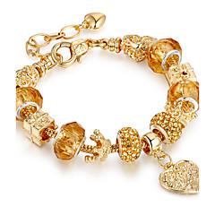 Γυναικεία Βραχιόλια Strand Φιλία DIY ταινία Κοσμήματα κοσμήματα πολυτελείας Μοντέρνα Elastic Επιχρυσωμένο ΚράμαCircle Shape Round Shape
