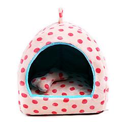 Kot Pies Łóżka Zwierzęta domowe Koce Polka Dots Przenośny Oddychający Beige Różowy Light Blue