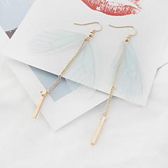 Γυναικεία Κρεμαστά Σκουλαρίκια Μοντέρνα Euramerican Χαλκός Ύφασμα Φτερά / Φτερό Κοσμήματα Για Πάρτι 1 Pair
