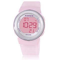 للمرأة للأطفال ساعة رياضية ساعة ذكية رقمي مقاوم للماء قضية مطاط فرقة الأبيض أزرق بني بنفجسي