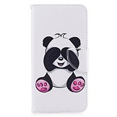 Voor iphone 7plus 7 telefoon hoesje pu lederen materiaal reuzen panda patroon beschilderde telefoon hoesje 6s plus 6plus 6s 6 zie 5s 5