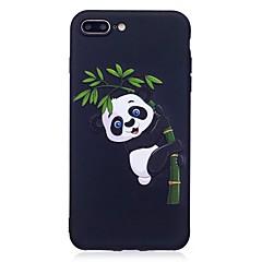 Per il iphone 7 più 6 più 6s se 5s 5 copertura di caso panda modello sollievo copertura posteriore soft tpu