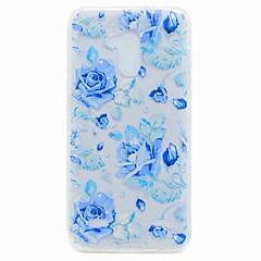 Til zte v7 v7 lite case cover gennemsigtigt mønster bagcover case blue rose soft tpu til zte blade a452